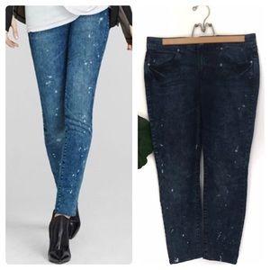 CAbi Vintage Acid Wash Paint Splatter Jeans!